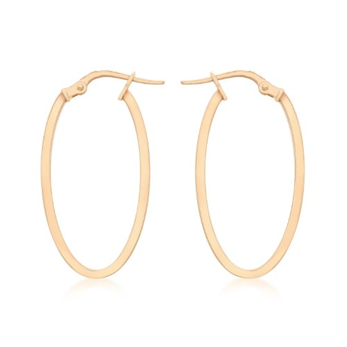 Carissima Gold 14 mm x 30 mm Oval Creole Ohrringe 9k (375) 1.48.9869