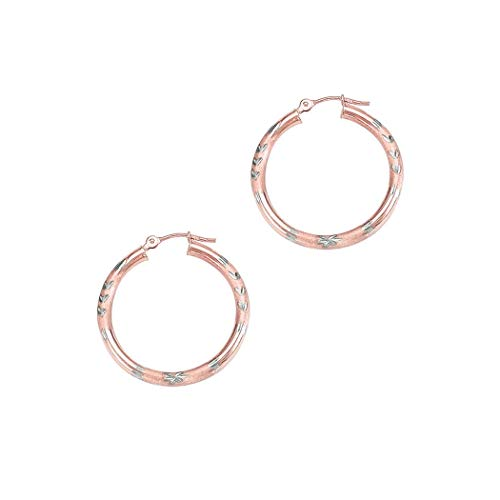 14 Karat (585) Bicolor 3 mm, JewelryWeb Ohrringe Kreolen