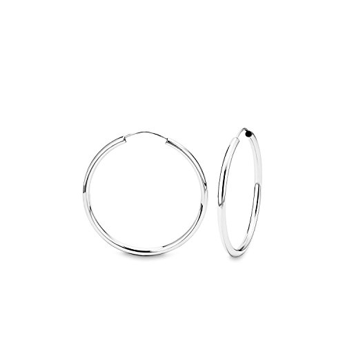Ohrringe Basic 37 mm 925 Sterling glänzend   75725