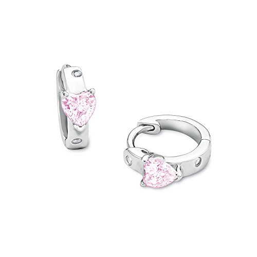 amor Kinder Mädchen (Bärenherz Charity Collection) 925 Sterling rhodiniert Zirkonia rosa   556071