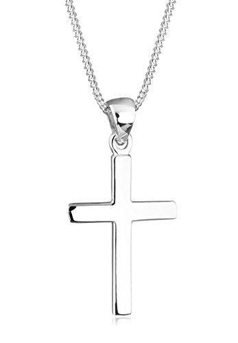 Elli Halskette Kreuz Symbol Basic Religion in Sterling