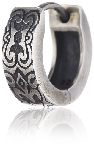 caï men Creole 925 Sterlingsilber vintage oxidized