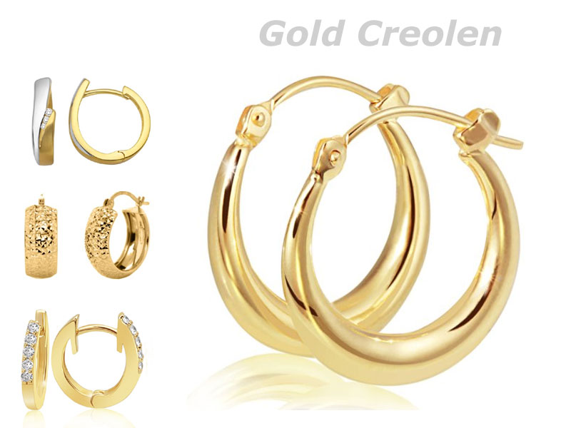 ohrringe gold creolen 585