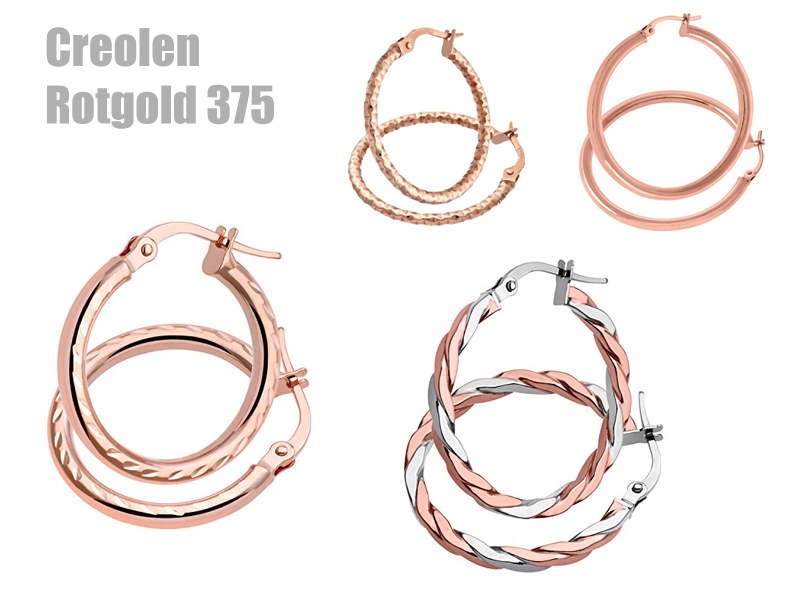 Creolen Rotgold 375