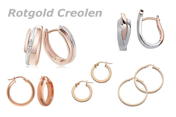 Creolen rotgold