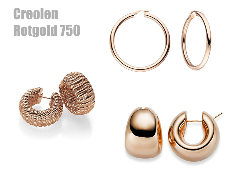 Creolen rotgold 750